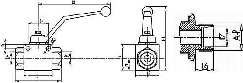 чертеж кран высокого давления двухходовой