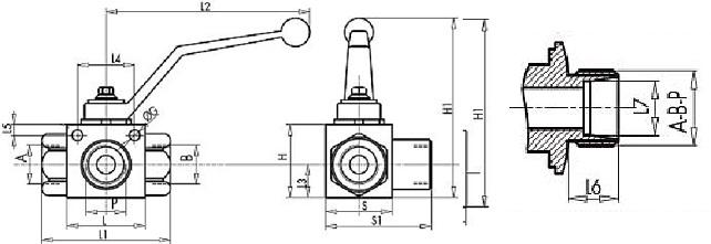 чертеж кран высокого давления
