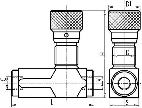 Дроссель с обратным клапаном тонкой настройки VRFU 90