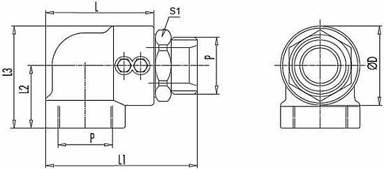Поворотные соединения вертлюг углового монтажа GG 90