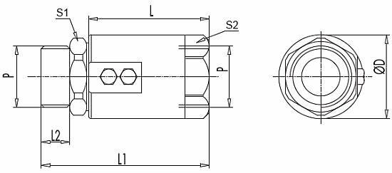 Поворотные соединения вертлюг линейного монтажа GGL