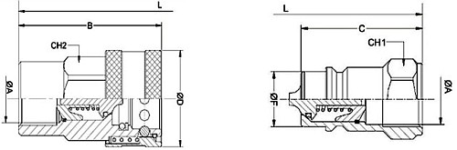 быстроразъемные соединения брс iso a